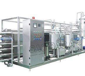 máy thanh trùng và bài khí cho sữa đậu nành