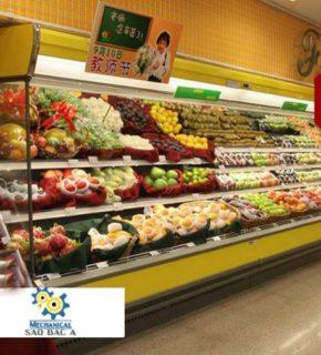 Tủ trưng bày giữ lạnh rau củ quả siêu thị