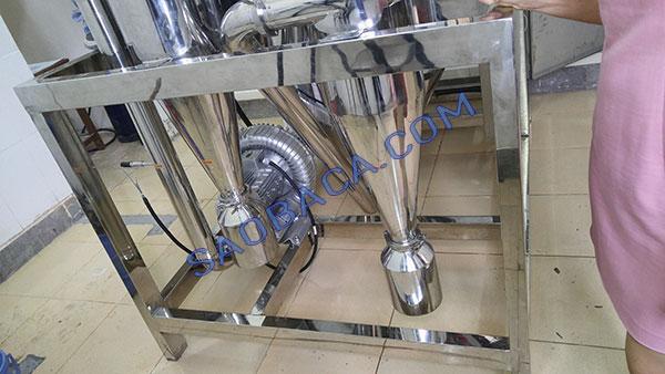 Chân máy sấy và bầu chứa thành phẩm