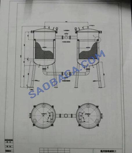 Bản vẽ máy lọc dịch lỏng đôi