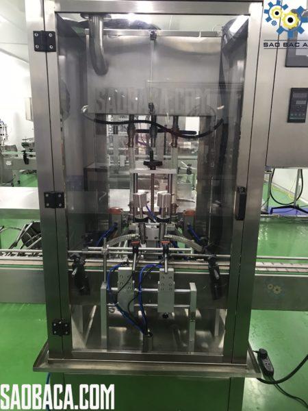máy chiết rót hũ kem mỹ phẩm tự động