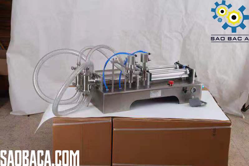 máy chiết dịch thủ công 2 vòi bán tự động